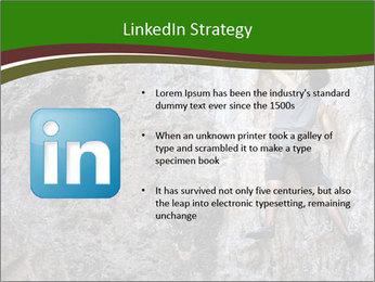 Hiker On Rock PowerPoint Templates - Slide 12