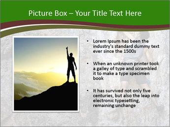 Hiker On Rock PowerPoint Templates - Slide 13