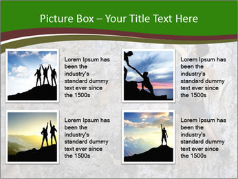 Hiker On Rock PowerPoint Templates - Slide 14