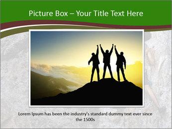 Hiker On Rock PowerPoint Templates - Slide 15