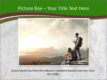 Hiker On Rock PowerPoint Templates - Slide 16