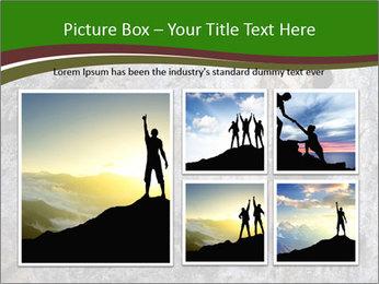 Hiker On Rock PowerPoint Templates - Slide 19