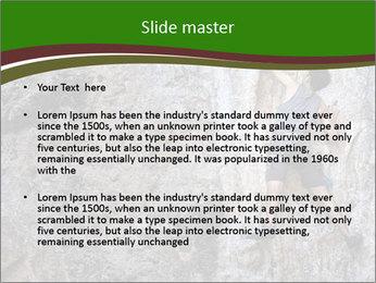 Hiker On Rock PowerPoint Templates - Slide 2