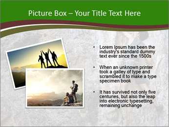 Hiker On Rock PowerPoint Templates - Slide 20