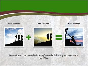 Hiker On Rock PowerPoint Templates - Slide 22