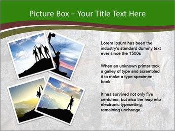 Hiker On Rock PowerPoint Templates - Slide 23