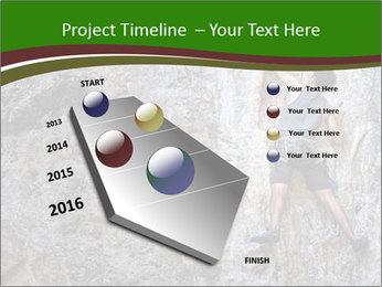 Hiker On Rock PowerPoint Templates - Slide 26
