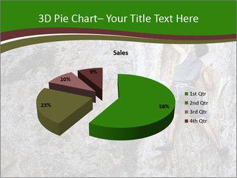 Hiker On Rock PowerPoint Templates - Slide 35