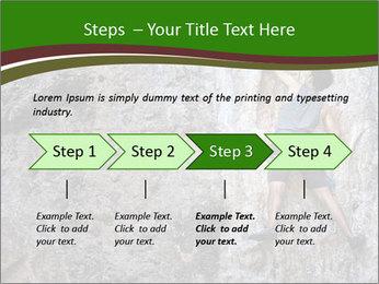 Hiker On Rock PowerPoint Templates - Slide 4