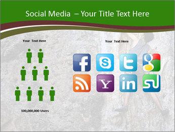 Hiker On Rock PowerPoint Templates - Slide 5