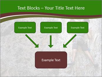 Hiker On Rock PowerPoint Templates - Slide 70
