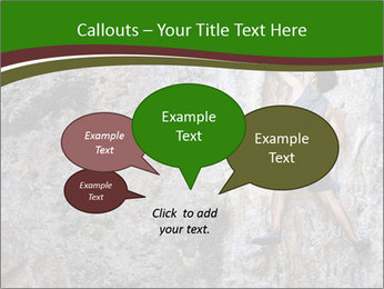 Hiker On Rock PowerPoint Templates - Slide 73