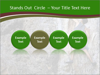 Hiker On Rock PowerPoint Templates - Slide 76