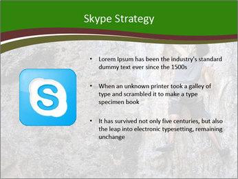 Hiker On Rock PowerPoint Templates - Slide 8