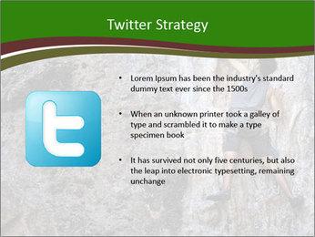 Hiker On Rock PowerPoint Templates - Slide 9