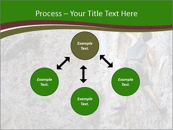 Hiker On Rock PowerPoint Templates - Slide 91