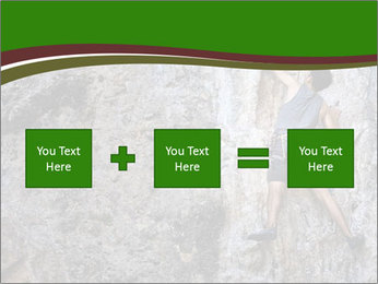 Hiker On Rock PowerPoint Templates - Slide 95