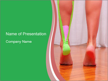 Leg Bandage PowerPoint Template - Slide 1