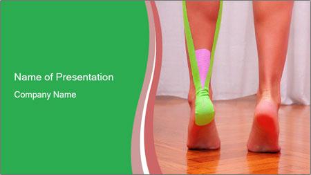 Leg Bandage PowerPoint Template