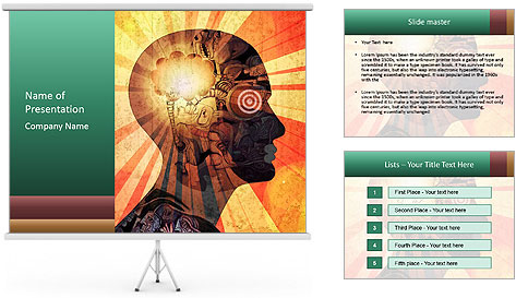 Enlighten Head PowerPoint Template