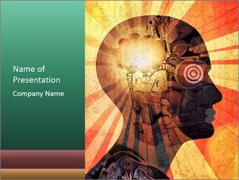 Enlighten Head PowerPoint Template - Slide 1