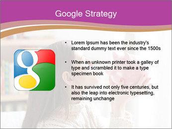 Woman Kisses Piggy Bank PowerPoint Template - Slide 10