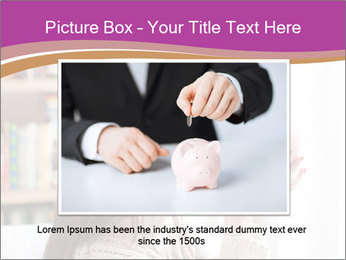 Woman Kisses Piggy Bank PowerPoint Template - Slide 16