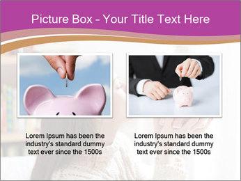 Woman Kisses Piggy Bank PowerPoint Template - Slide 18