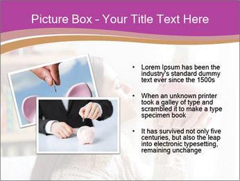 Woman Kisses Piggy Bank PowerPoint Template - Slide 20