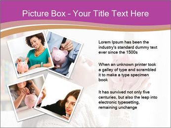 Woman Kisses Piggy Bank PowerPoint Template - Slide 23