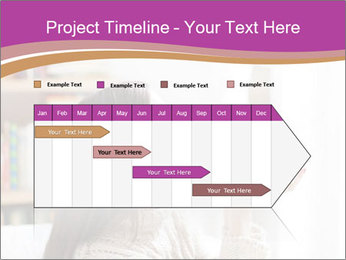 Woman Kisses Piggy Bank PowerPoint Template - Slide 25