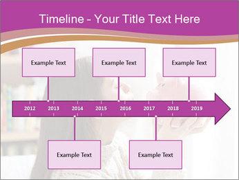 Woman Kisses Piggy Bank PowerPoint Template - Slide 28