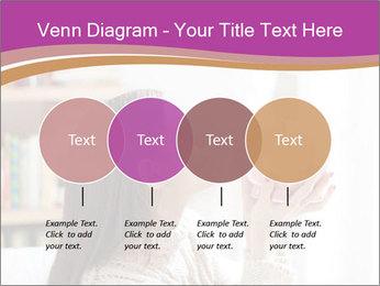 Woman Kisses Piggy Bank PowerPoint Template - Slide 32