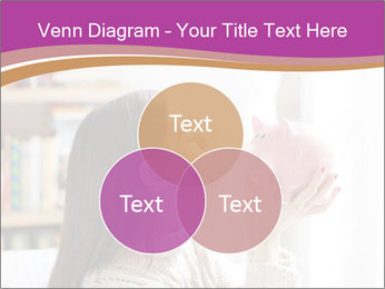 Woman Kisses Piggy Bank PowerPoint Template - Slide 33