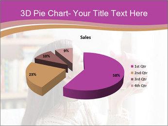 Woman Kisses Piggy Bank PowerPoint Template - Slide 35