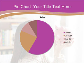 Woman Kisses Piggy Bank PowerPoint Template - Slide 36
