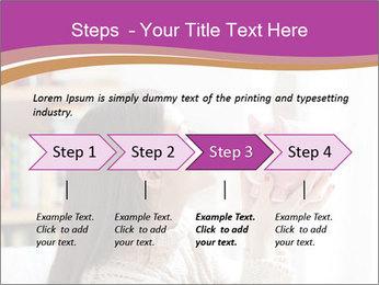 Woman Kisses Piggy Bank PowerPoint Template - Slide 4