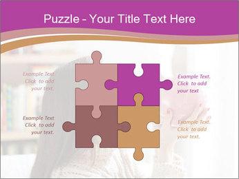 Woman Kisses Piggy Bank PowerPoint Template - Slide 43