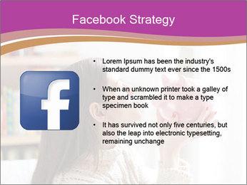 Woman Kisses Piggy Bank PowerPoint Template - Slide 6