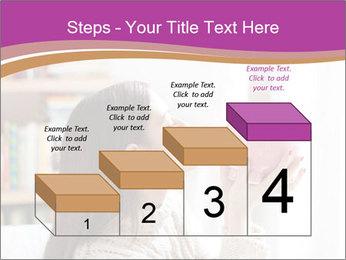 Woman Kisses Piggy Bank PowerPoint Template - Slide 64