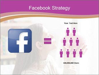 Woman Kisses Piggy Bank PowerPoint Template - Slide 7