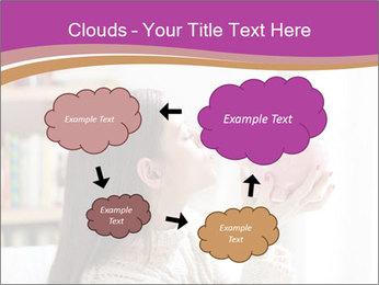 Woman Kisses Piggy Bank PowerPoint Template - Slide 72
