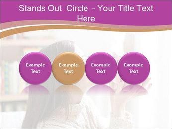 Woman Kisses Piggy Bank PowerPoint Template - Slide 76