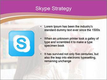 Woman Kisses Piggy Bank PowerPoint Template - Slide 8