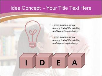 Woman Kisses Piggy Bank PowerPoint Template - Slide 80