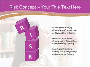Woman Kisses Piggy Bank PowerPoint Template - Slide 81