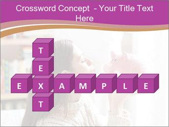Woman Kisses Piggy Bank PowerPoint Template - Slide 82