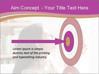 Woman Kisses Piggy Bank PowerPoint Template - Slide 83