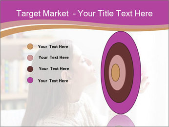 Woman Kisses Piggy Bank PowerPoint Template - Slide 84