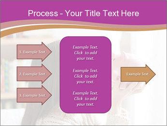 Woman Kisses Piggy Bank PowerPoint Template - Slide 85